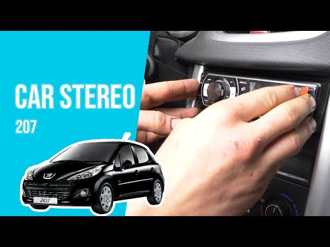 How to install the car stereo PEUGEOT 207 📻