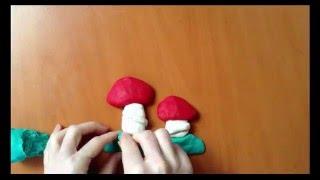 Oyun Hamurundan Şekiller - Mantar - make mushroom with play dough