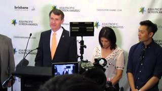Lord Mayor Graham Quirk, Asia Pacific Screen Awards 2014