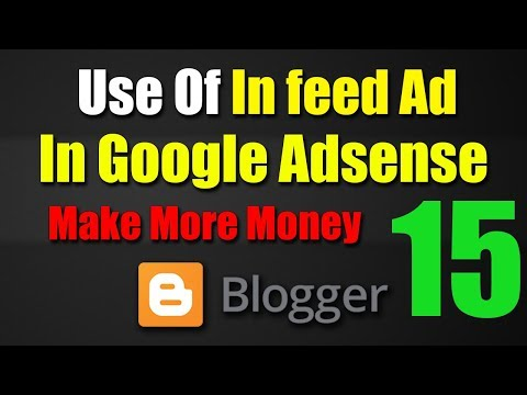 How To Use In Feed Ad In Blog Make More Money From Blog Tutorial-15 2018