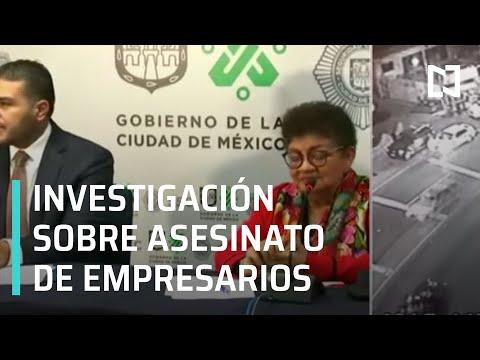 Autoridades presentan avances sobre caso de empresarios asesinados en CDMX