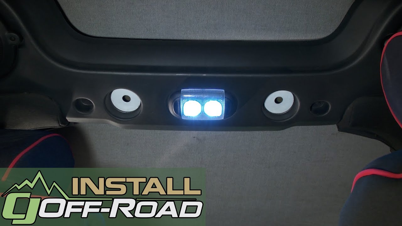 Jeep Jk Wrangler Interior Dome Light Kit Led 2 Door 2007 2018 Installation Youtube