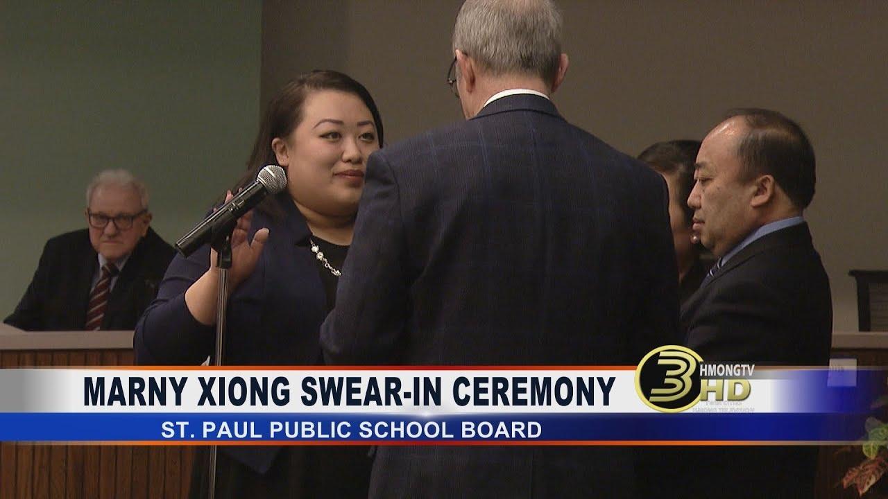 3 HMONG NEWS: MARNY XIONG SWORN IN AS ST. PAUL PUBLIC SCHOOL BOARD MEMBER.