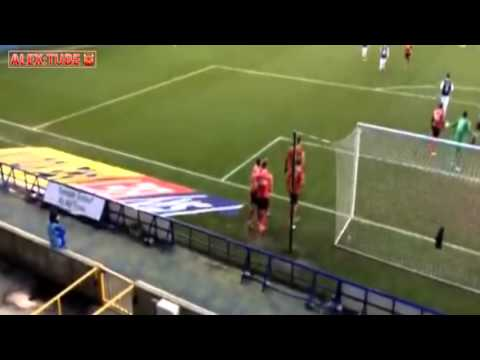 FAN CAM: Brad Inman Penalty At Millwall Away 15/16