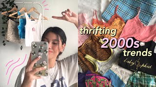 THRIFTING Y2K TRENDS ☆ early 2000s thrift trip!