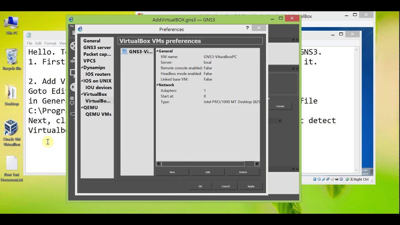 Add Virtualbox PC into GNS3