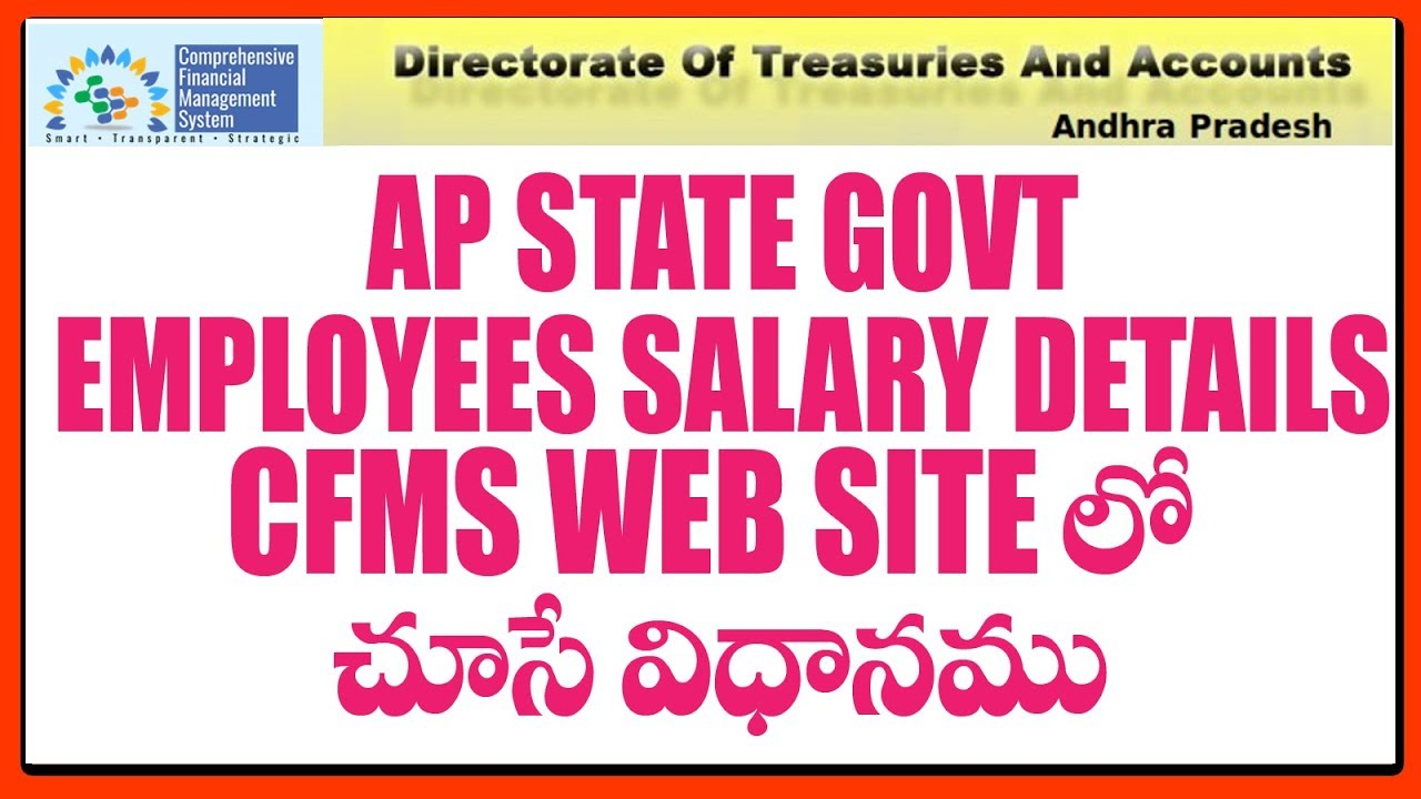 AP State Govt Employees Salary Pay Slip Details In CFMS