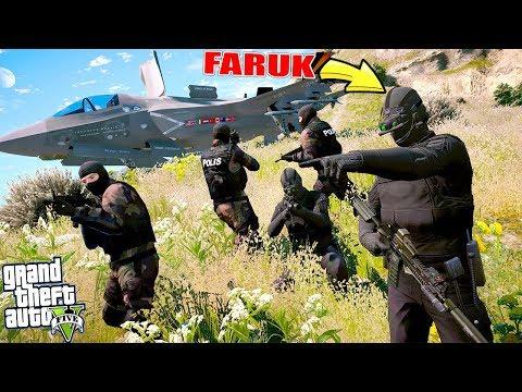 ÖZEL HAREKAT ÇALINTI F-35 BASKINI! - GTA 5 FARUK'UN HAYATI