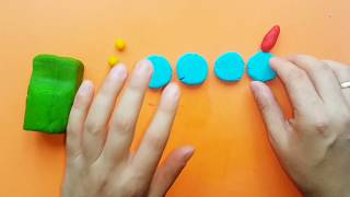 How to make a Car with play dough very easy for kids