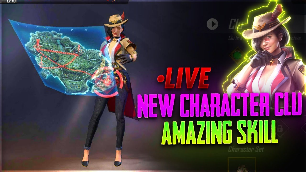 New Charecter CLU || Free Fire Live || Desi Gamers