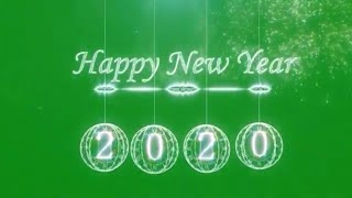Green screen Happy new year 2020 full Hd happy new year