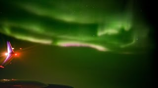 The Northern Lights From My Window Seat at 35,000ft