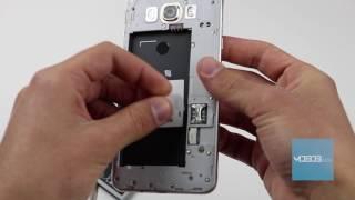 Samsung Galaxy J7 2016 How to insert SIM card / memory card