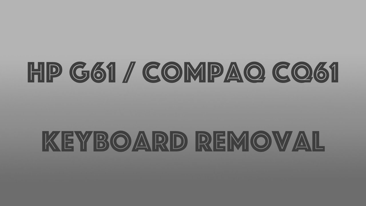 Compaq BLACK HP Presario CQ61 HP G61 Keyboard Key