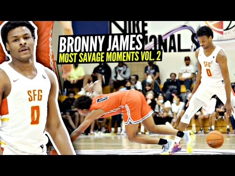 Download Bronny James 10th Grade Top 50 MOST SAVAGE  PLAYS & MOMENTS!!