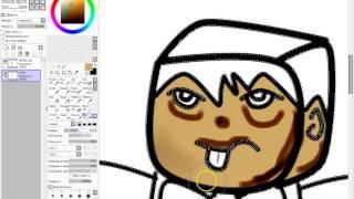 Как рисовать картинки аниме-Minecraft