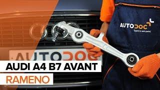 Vymeniť Rameno Zavesenia Kolies AUDI A4: dielenská príručka