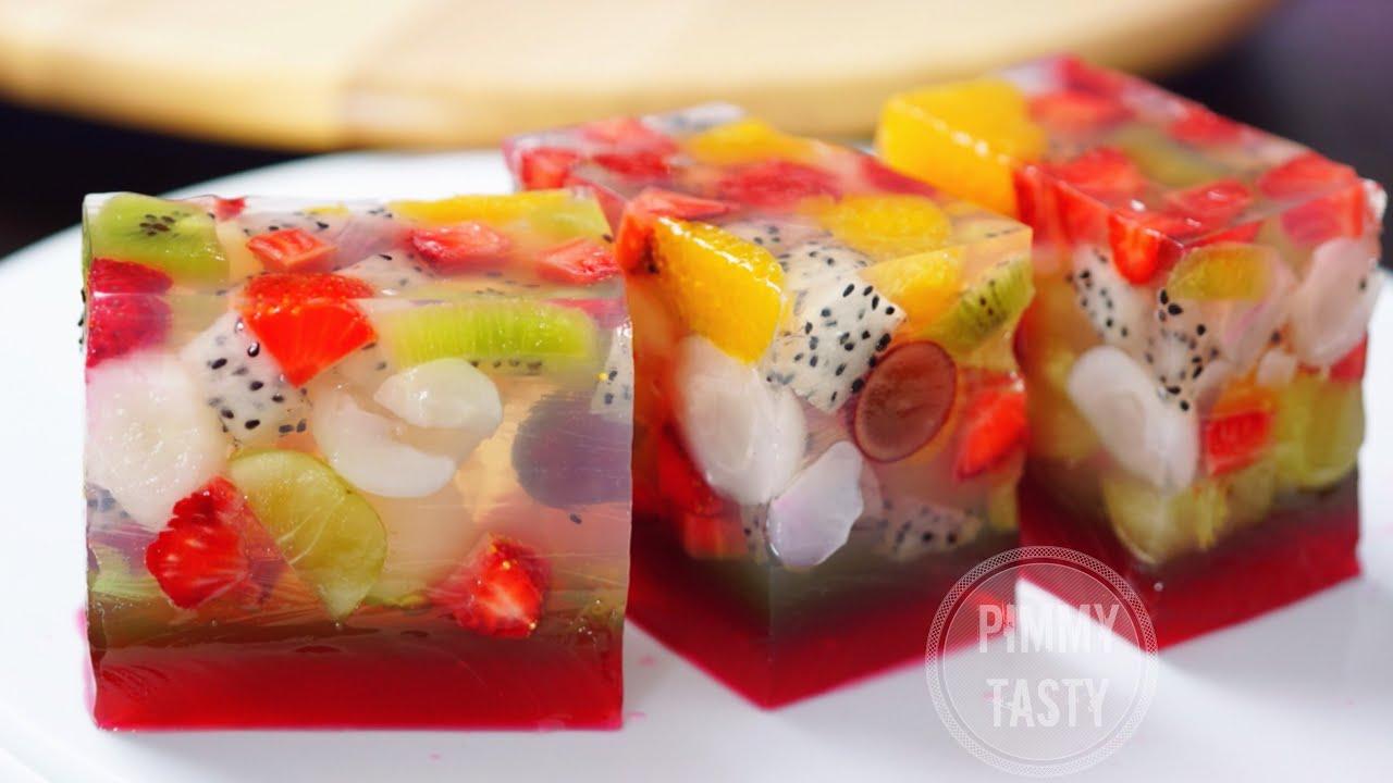 Jelly Cake Recipe Uk: วุ้นผลไม้สด Agar Jelly Fruit Cake Recipe