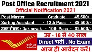 post office recruitment 2021, new vacancy 2021,anganwadi, sarkari naukri, post office vacancy 2021