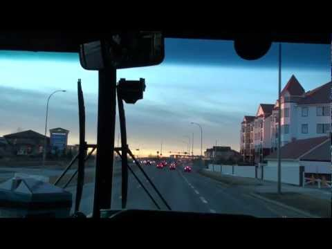 my daily way to school in Calgary Canada