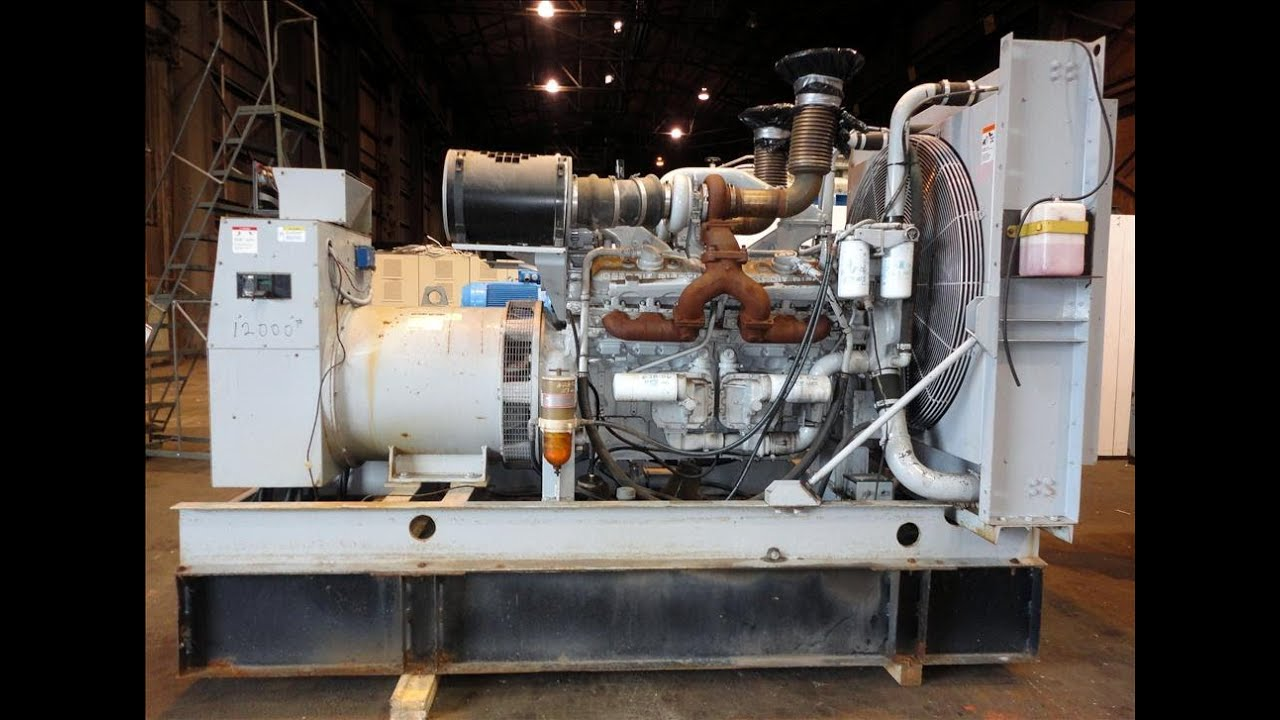Used- Detroit Diesel Spectrum 500 kW standby diesel generator set ...