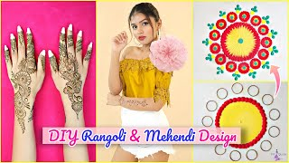 WEDDING Special Mehendi & Rangoli Designs | Step By Step Tutorial | DIYQueen