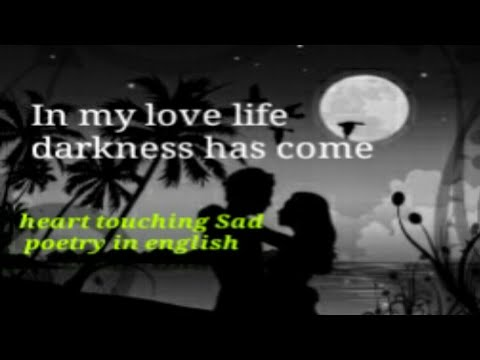 #latest💘 heart touching sad💔 poetry in english ||for girlfriend and  boyfriend||