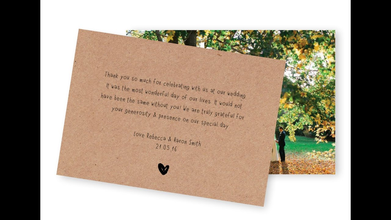 5 wording ideas for your wedding thank you cards  youtube
