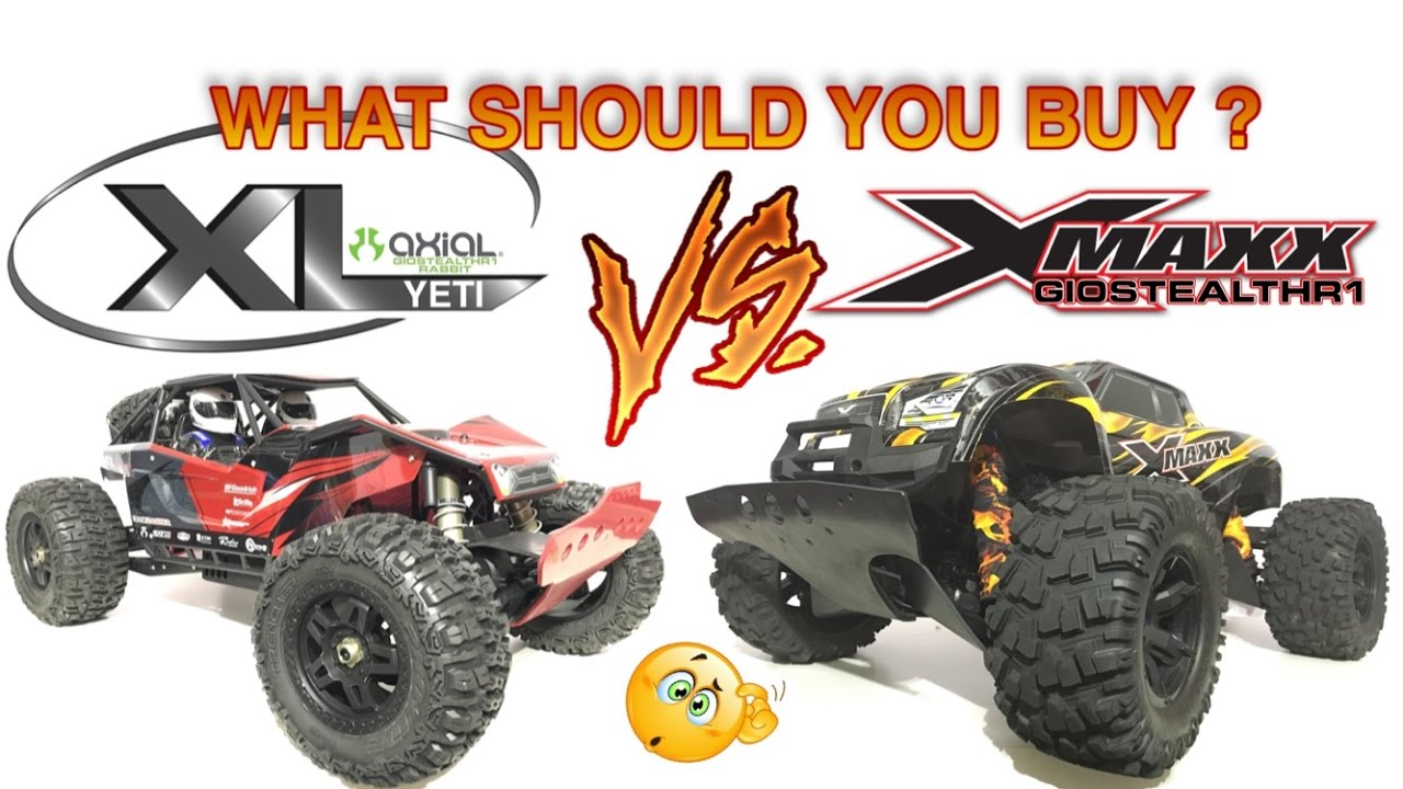 TRAXXAS X-MAXX VS AXIAL YETI XL : WHAT SHOULD YOU BUY ? - YouTube