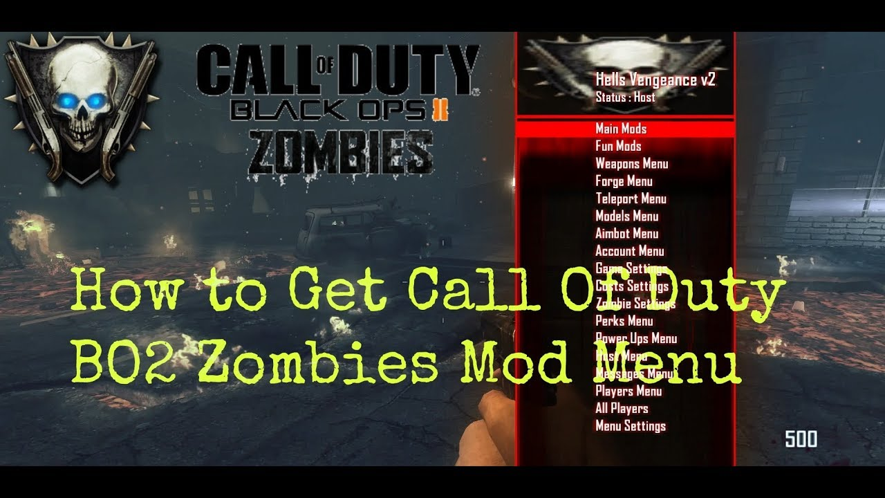 How To Get CoD Bo2 Mod Menu Zombies |Public Match| PC ...