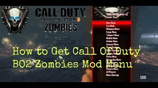 How To Get CoD Bo2 Mod Menu Zombies |Public Match| PC *STILL WORKING 2018*