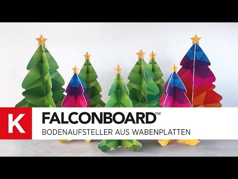 FALCONBOARD: Umweltfreundliche Wabenplatte - POS Display - Aufsteller - Digitaldruck - Zünd Cutter