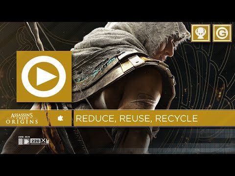 Reduce, Reuse, Recycle Trophy Achievement - Sell 100 trinkets at once / Assassins Creed Origins