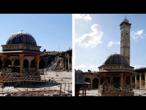 Syrian mosque in Aleppo's Unesco world heritage site destroyed