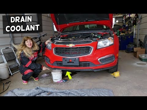 CHEVROLET CRUZE DRAIN COOLANT.  FLUSH RADIATOR COOLANT