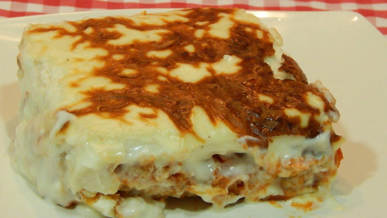 Lasaa de carne y pan de molde receta fcil YouTube