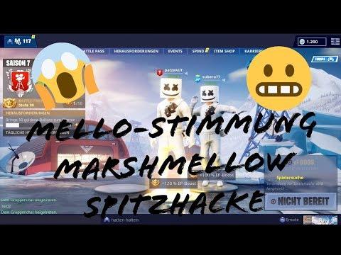 FORTNITE BATTLE ROYAL Mello-Stimmung für Spitzhacke MARSHMALLOW SKIN THANKS FOR 1100 Views Mp3
