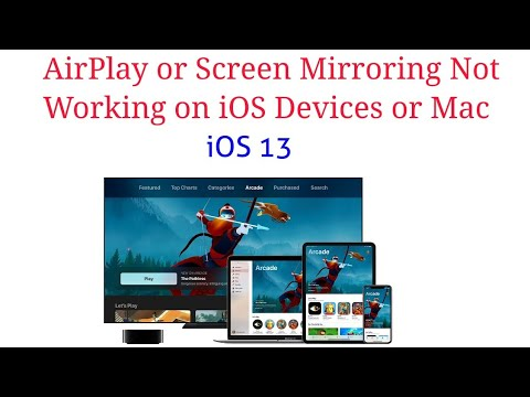 How To Fix AirPlay Or Screen Mirroring Not Working On IPhone, IPad, IPod And Mac To Apple TV  IOS 13