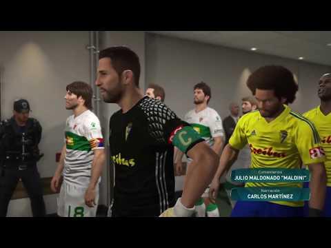 Cádiz Vs Elche partido de la semana PES 2017