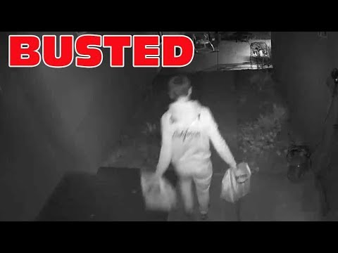 Amazon Delivery Driver Caught Stealing Packages By Home Security Camera In San Diego!