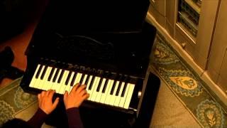 中国製(現代)グランド型黒・37鍵のトイピアノです。 本物のピアノとほぼ同幅の鍵盤で、軽く弾きやすいことと、よく通る響きに特徴があり...