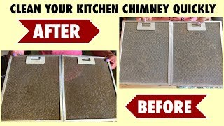 HOW TO CLEAN KITCHEN CHIMNEY AT HOME || EASY CLEANING HACKS