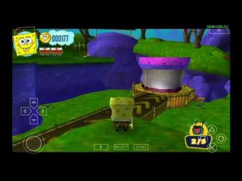 PPSSPP Emulator 0.9.8 for Android | SpongeBob's Truth or Square [720p HD] | Sony PSP