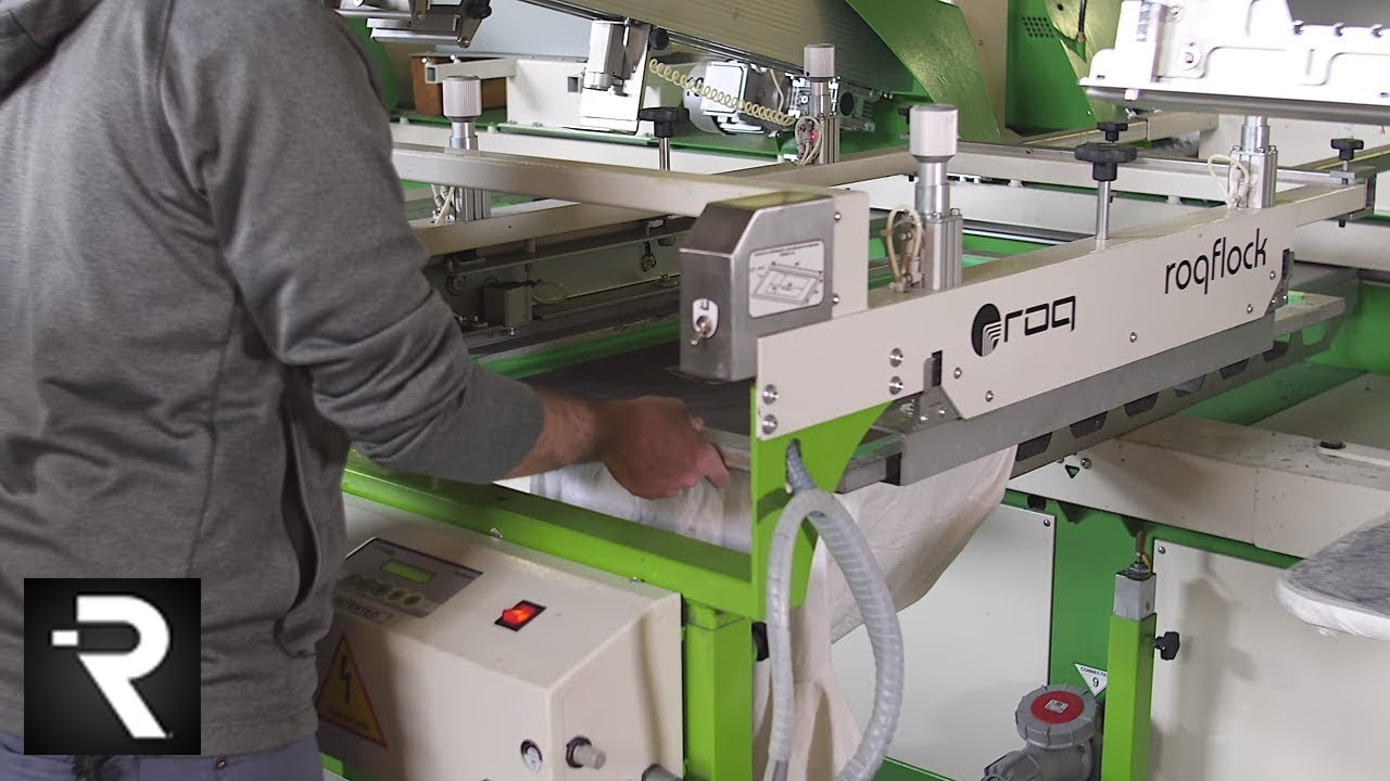 Properly Installing and Using a ROQ Automatic Flocking Station on a ROQ  Oval Screen Printing Press