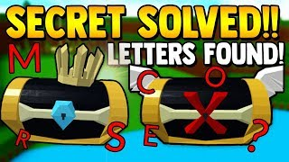 HIDDEN CHEST SECRET *SOLVED* | Build a boat for Treasure ROBLOX