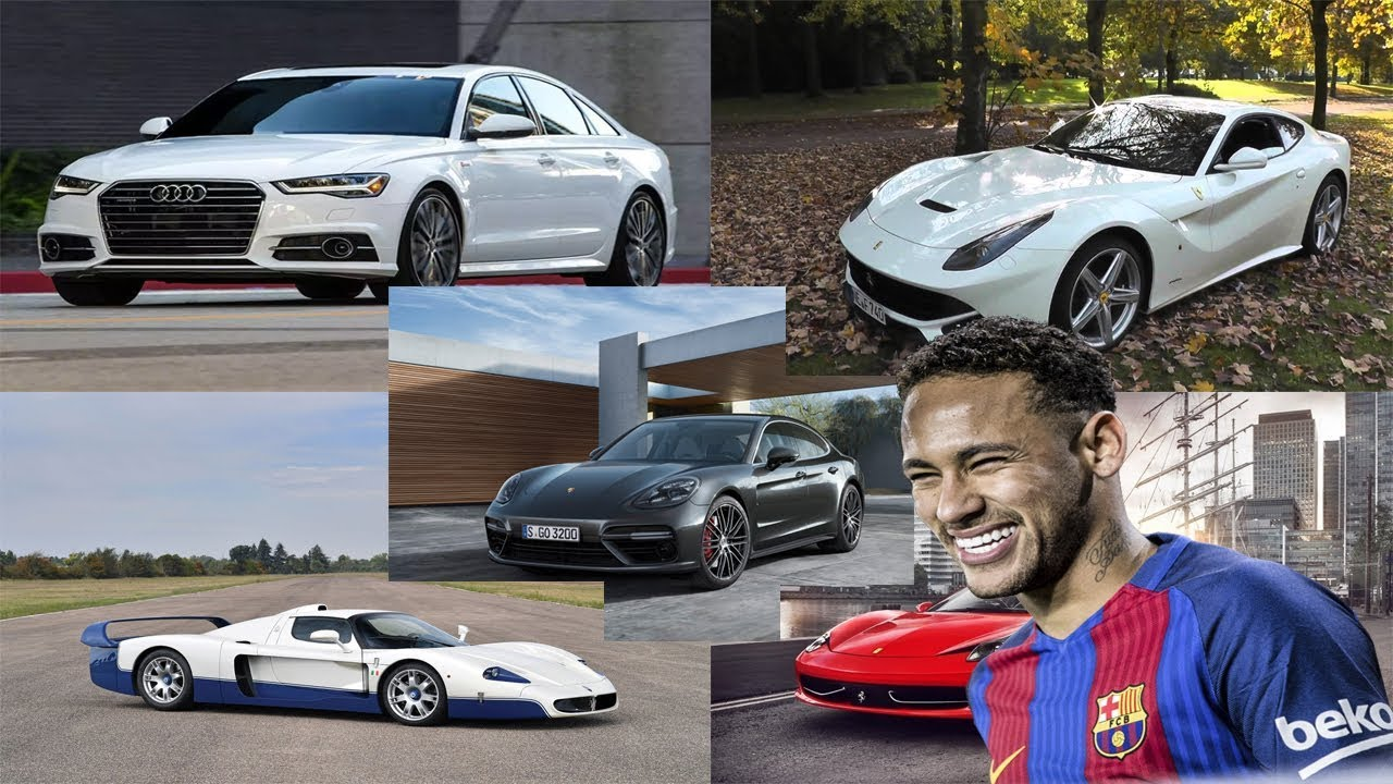 neymar cars collection - best cars in neymar car collection - youtube