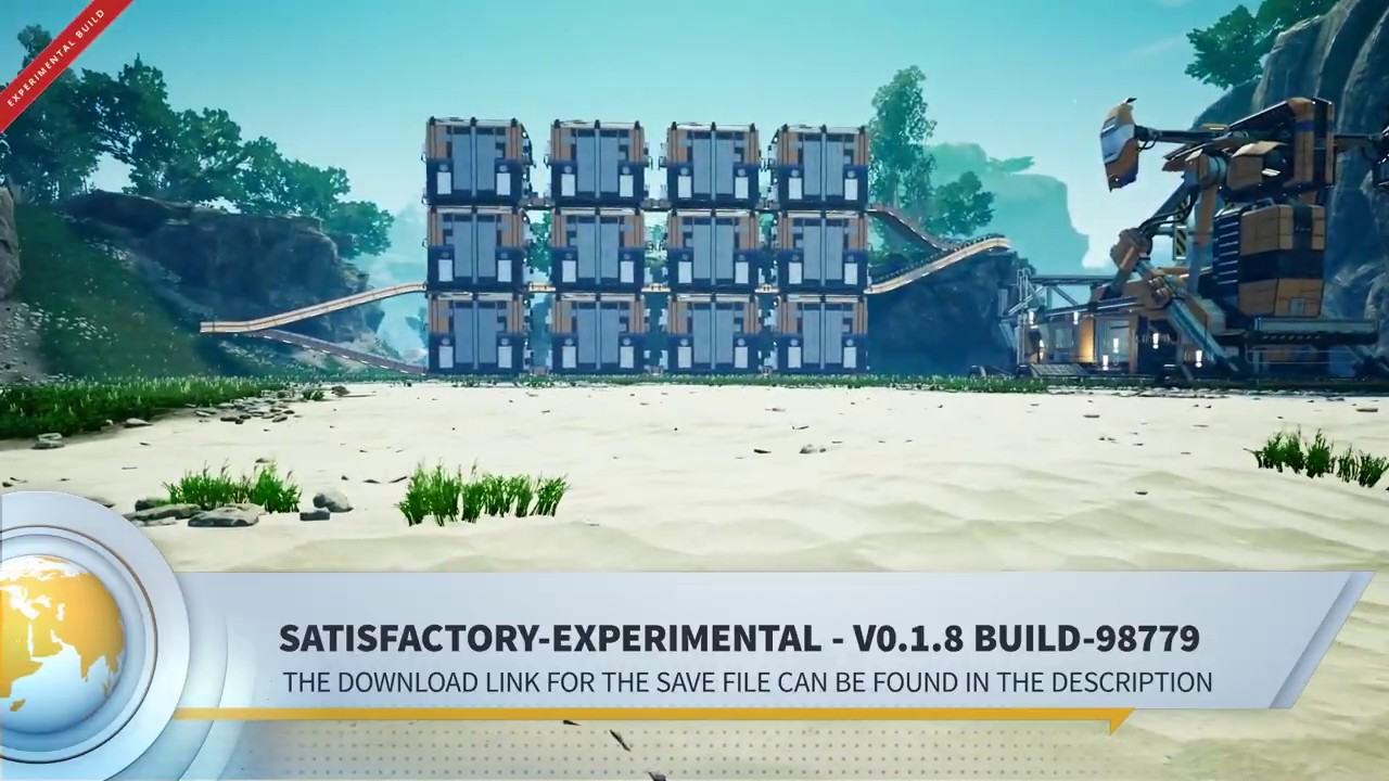 Satisfactory-Experimental Clean Save-File for Download Fully explored