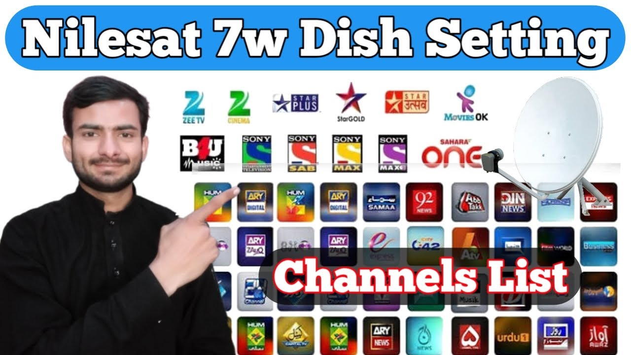 Nilesat 7w Dish Setting In Pakistan | Nilesat 7w Channels List On Forever  server