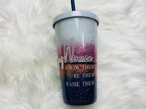 DIY Glitter Tumbler with a Lid and Straw
