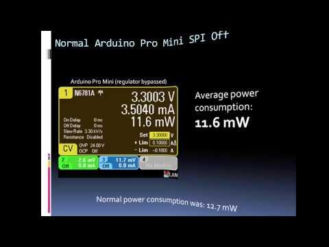 Reducing Arduino's Power Consumption Part 2